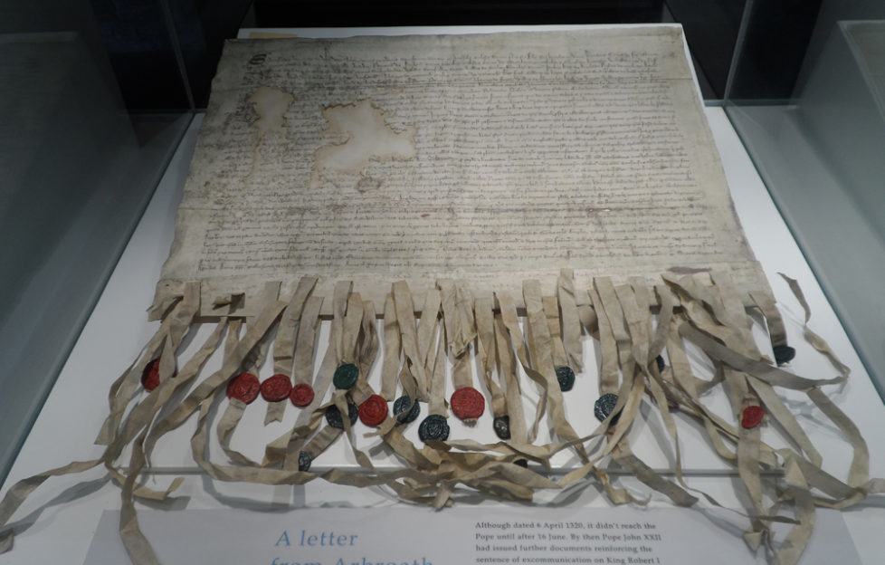 The original Declaration of Arbroath