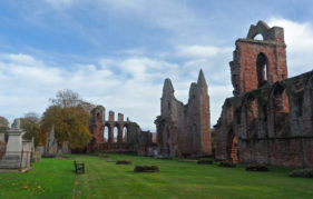 Arbroath Abbey gives an imposing backdrop to the festivities