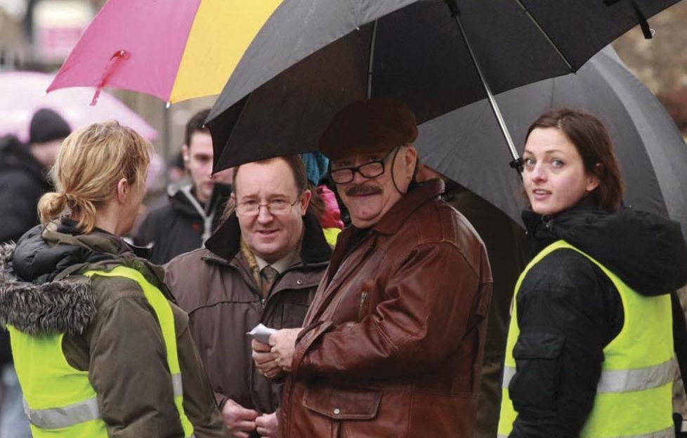 Brian Cox filming Bob Servant in Broughty Ferry