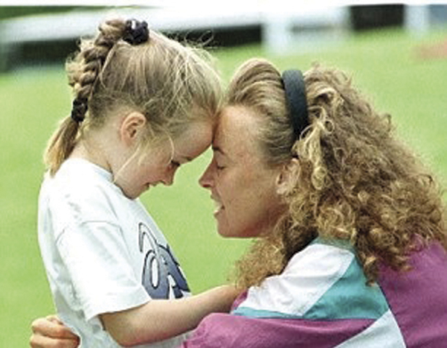 A young Eilish with mum