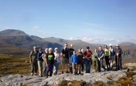 The first guided walk of Harris Mountain Festival - a hike to the top of Cleit Ard