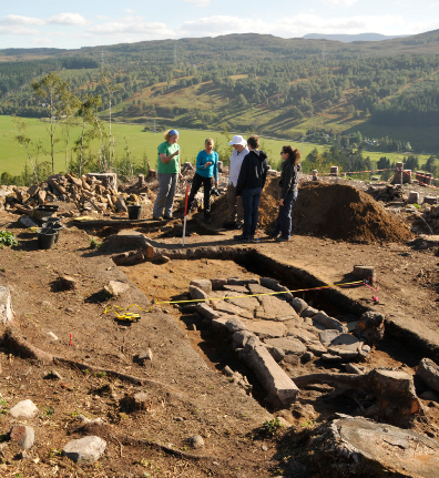 An excavation at Comar Dun, one of the sites taking part in the Highland Archaeology Festival