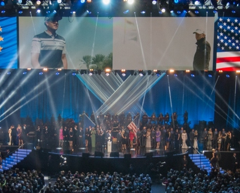 The players and their wives are introduced to the audience. Photo courtesy of DF Concerts