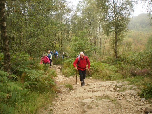 The Scots Magazine's Take A Hike group heads off