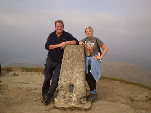 Garry and Mel from The Scots Mag at the top of Ben Lomond