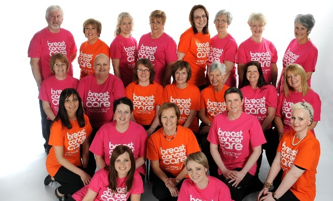 A few of the models appearing at this week's Breast Cancer care fashion show in Glasgow