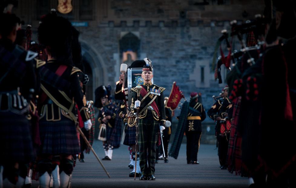 A Drum Major at the 2014 Royal Edinburgh Military Tattoo. Photo copyright Royal Edinburgh Military Tattoo