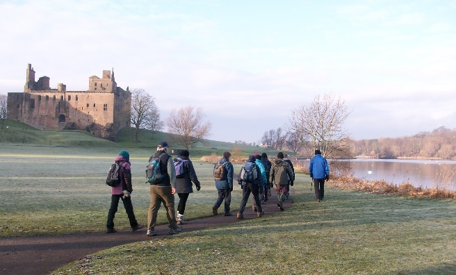 The Ramblers' winter walk around Linlithgow. Photo by Helen Todd