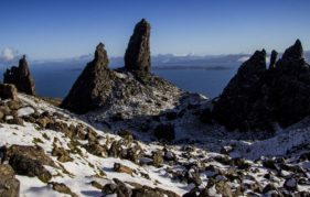 The Old Man of Storr in Winter. www.isleofskye.com