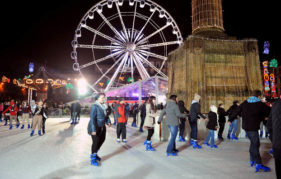 Skate under the stars with Glasgow's outdoor ice rink