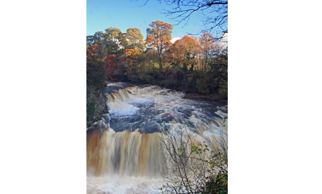 """I was fortunate to get this shot; a clear winter's day and the falls in full flow!"" Bill Spiers"