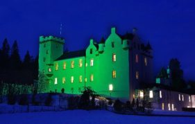 Blair Castle at night. Photo copyright Nigel Lumsden/Atholl Estates