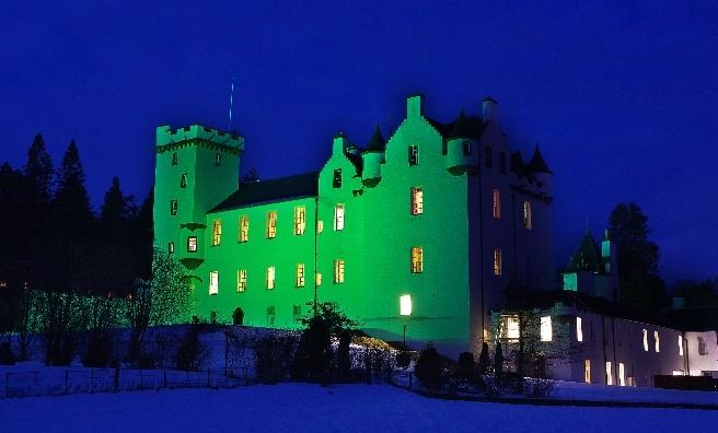 Blair Castle at night. Photo copyright Nigel Lumsden/Atholl Estates