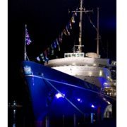 The Royal Yacht Britannia - perfect setting for a romantic evening for two