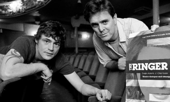 Actor Chris Taylor (left) with the writer of The Ringer, Tony Black. Photo by Iain Brown