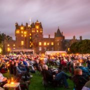 Glamis Castle provides a spectacular backdrop to Glamis Prom