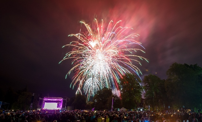 Glamis Prom's fireworks finale