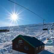 A sunny day at Glencoe. Image copyright Ski-Scotland and Steven McKenna Photography