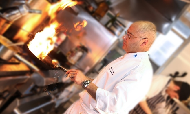 Marcello Tully, head chef at the Michelin-starred Kinloch Lodge
