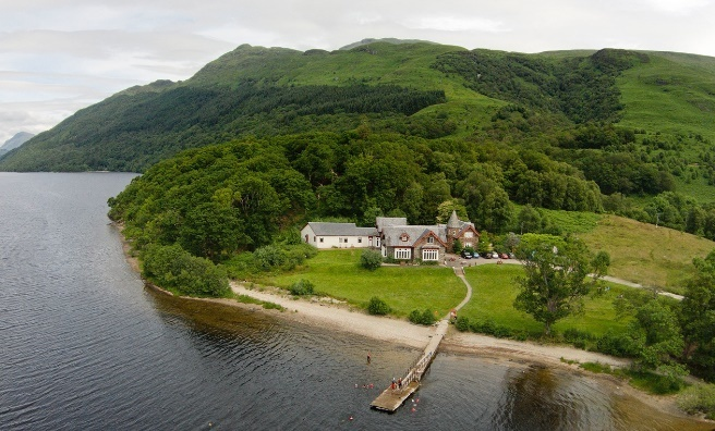 Rowardennan Youth Hostel, on the banks of Loch Lomond