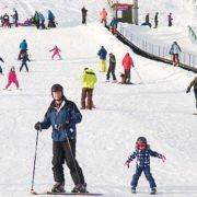Fun in the snow at The Lecht. Image copyright Ski-Scotland and Steven McKenna Photography