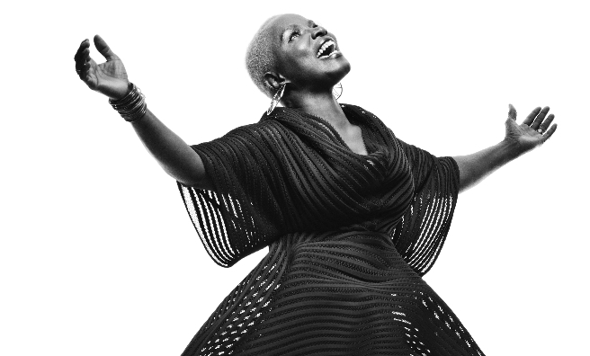 Angelique Kidjo performs at the Concert Hall during Celtic Connections