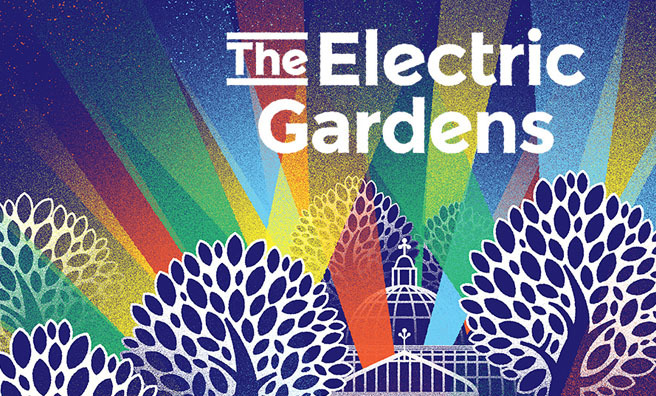 The Electric Gardens will light up Glasgow's Botanic Gardens.