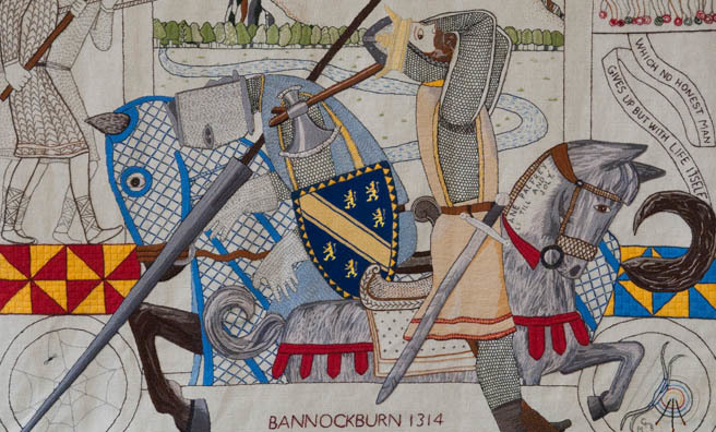 A section of the Great Tapestry Of Scotland. Image: Alex Hewitt