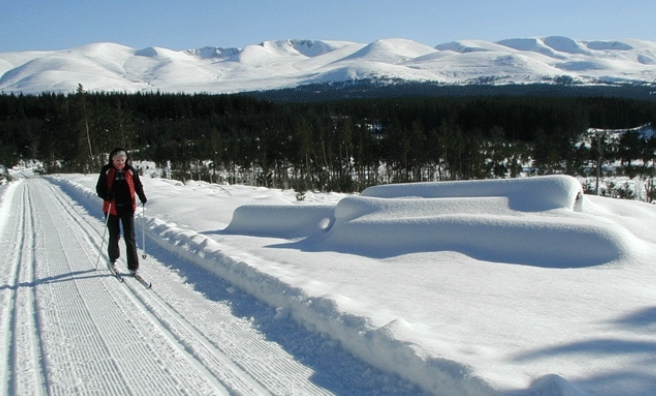 Nigel cross country skiing in the Cairngorms