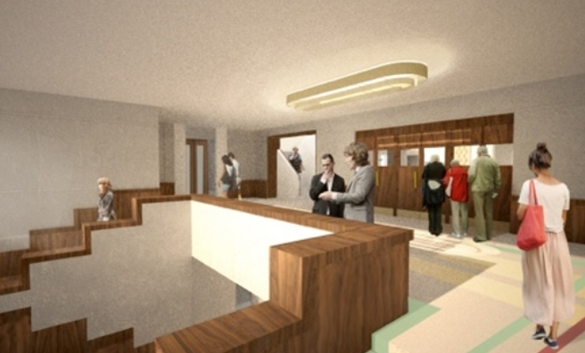 An artist's impression of the interior of the renovated Rothesay Pavilion
