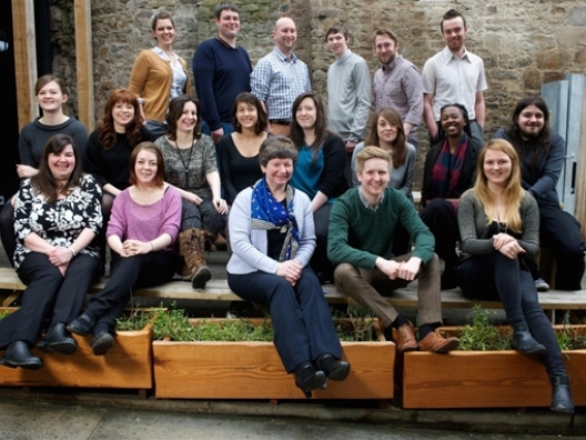 The 20 successful candidates at the launch event at Grassmarket Centre in Edinburgh.