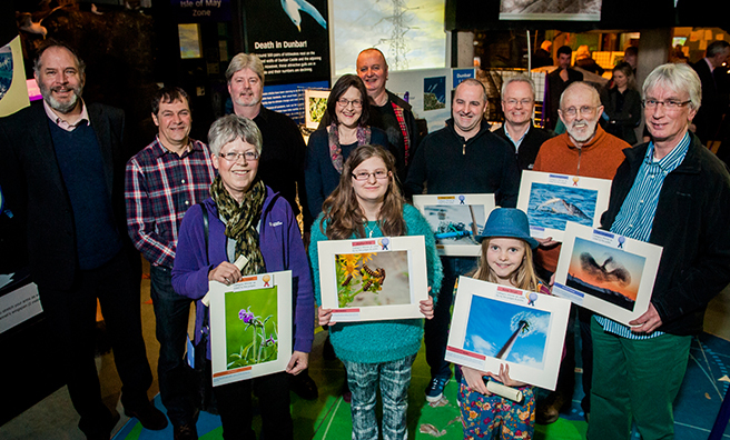 Some of the entrants with their winning photographs.