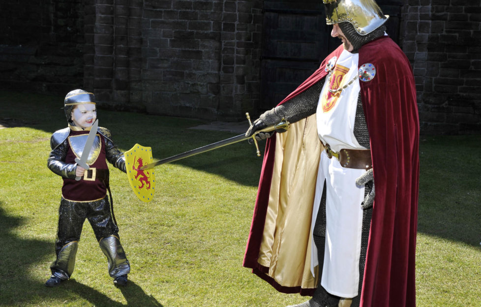 Robert the Bruce even makes an appearance to spar with troublesome visitors