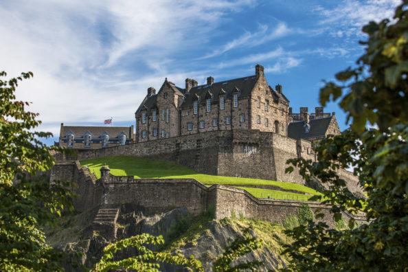 Edinburgh Castle provides a stunning backdrop to the tours