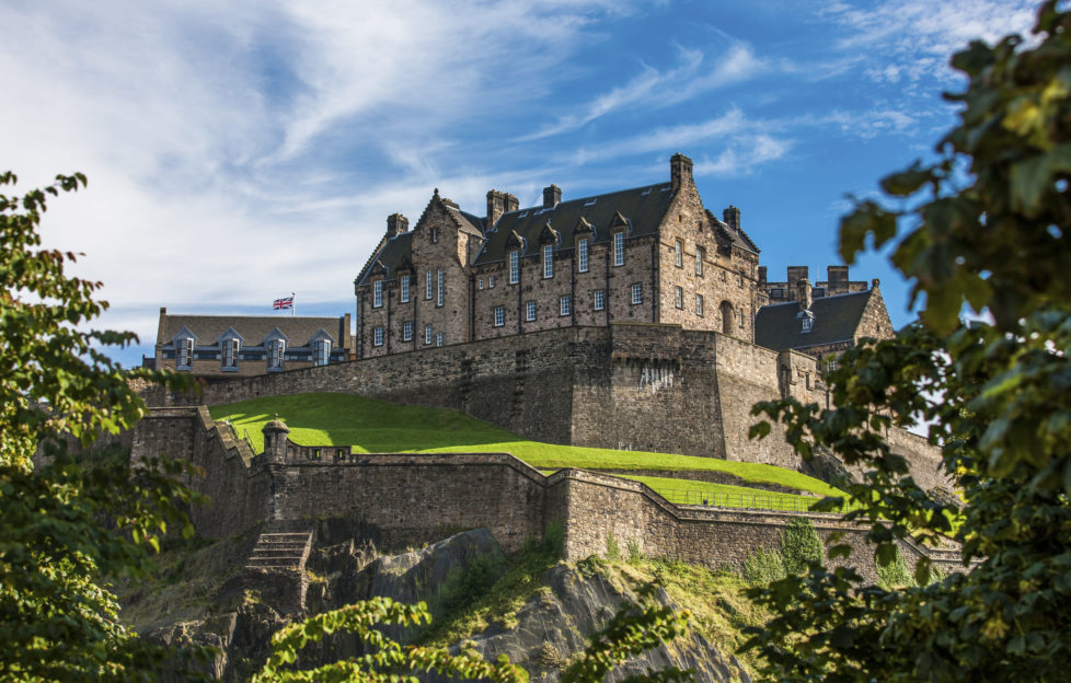 Edinburgh Castle provides a stunning backdrop to the tours