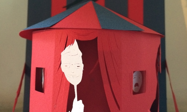One of Boo's paper sculptures - Circus of Horrors