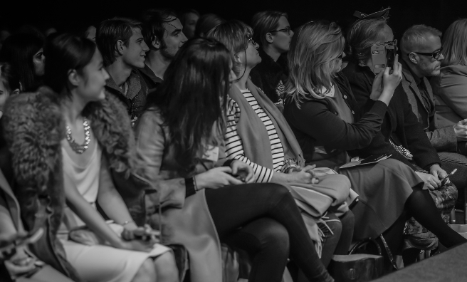 Front Row at the first Edinburgh Fashion Week. Photo by Yemi King