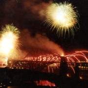 Fireworks announce the start of official centenary celebrations in 1990!