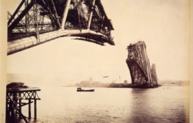Construction began in April 1882 from both sides of the Forth