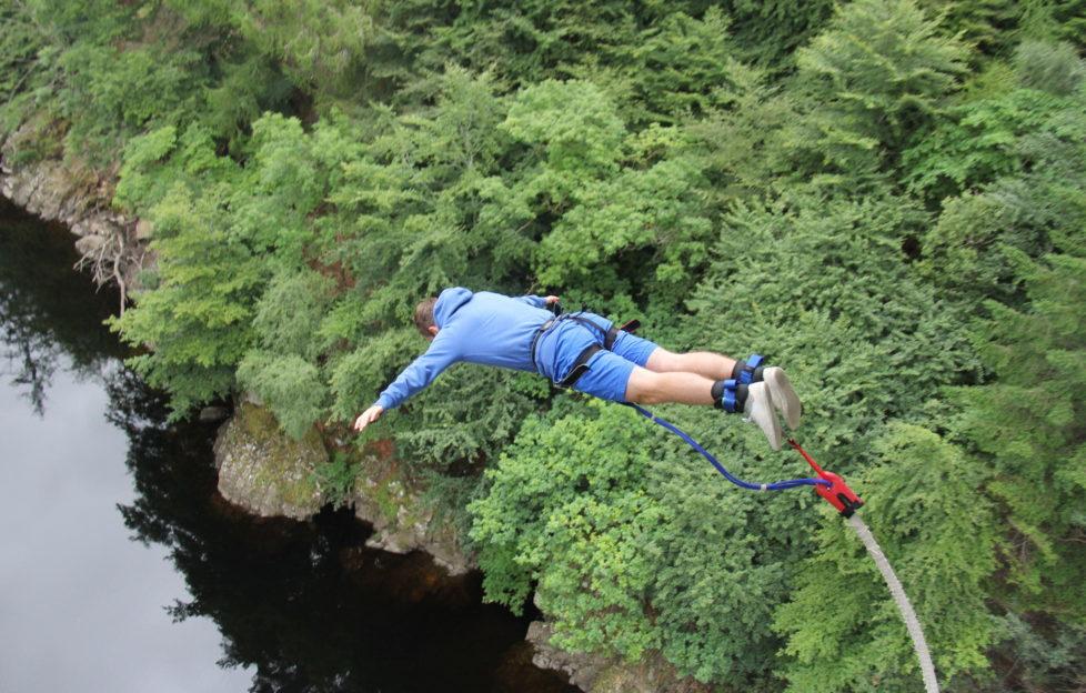The Highland Fling bungee jump at Killiecrankie