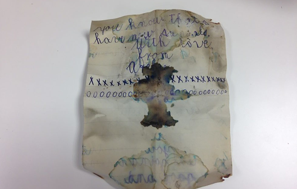 The second side of Archie's letter