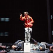 Joshua Jenkins (Christopher) in the Curious Incident of the Dog in the Night Time. Photo by Brinkhoff M + Agenberg