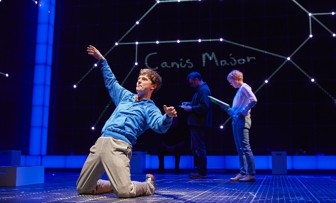 Joshua Jenkins (Christopher) in the Curious Incident of the Dog in the Night Time - coming to Scotland very soon. Photo by Brinkhoff M + Agenberg