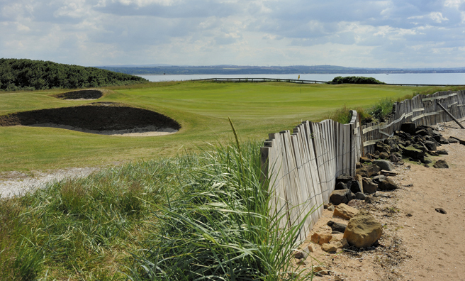 8th green of Kilspindie Golf Course, part of East Lothian's Golf Coast!
