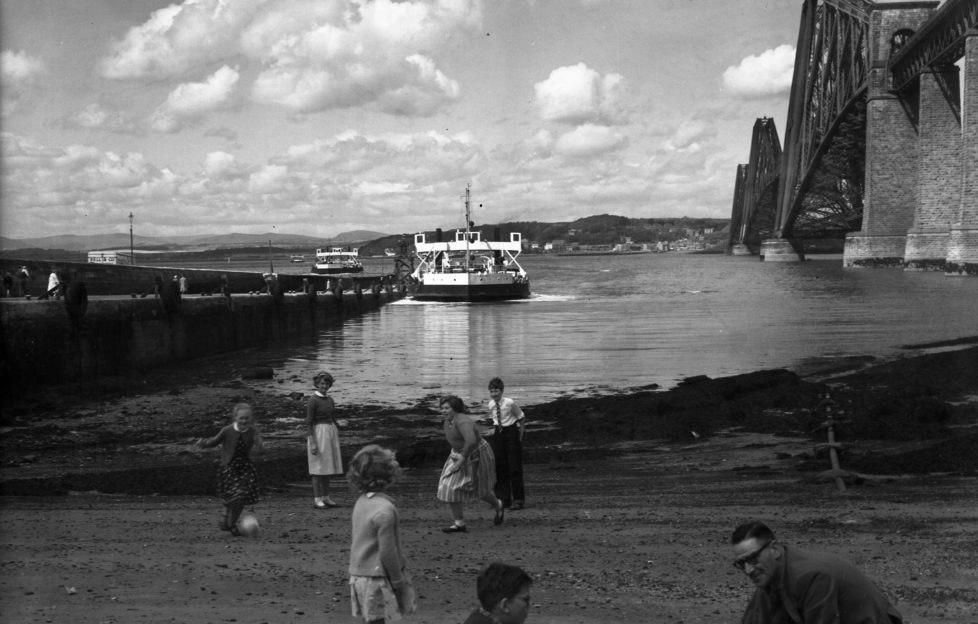 South Queensferry, 1958. Spot the Queensferry Ferry, which stopped running in 1964.