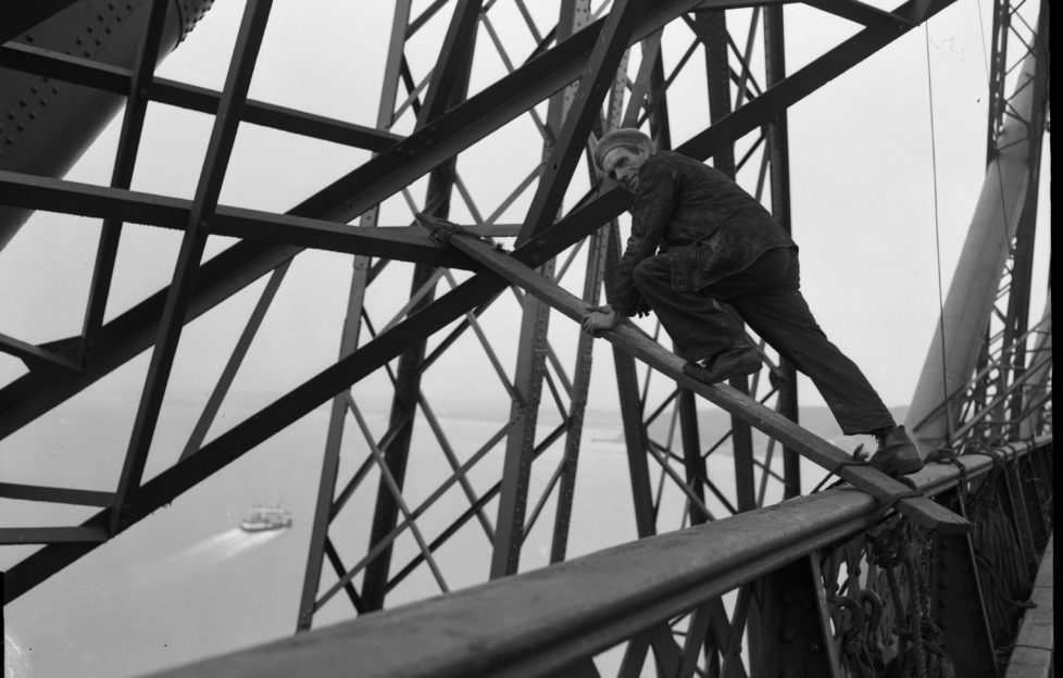 Maintenance work was a dangerous business in 1958 before the days of health and safety!