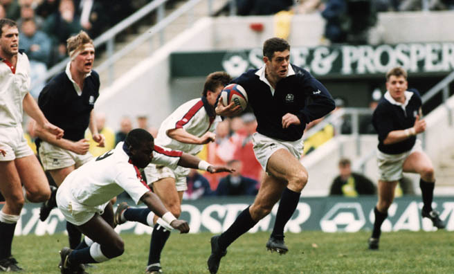 Gavin in action on the playing field (Image: Ted Blackbrow)
