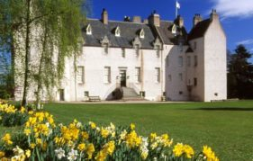 Drum Castle in spring.
