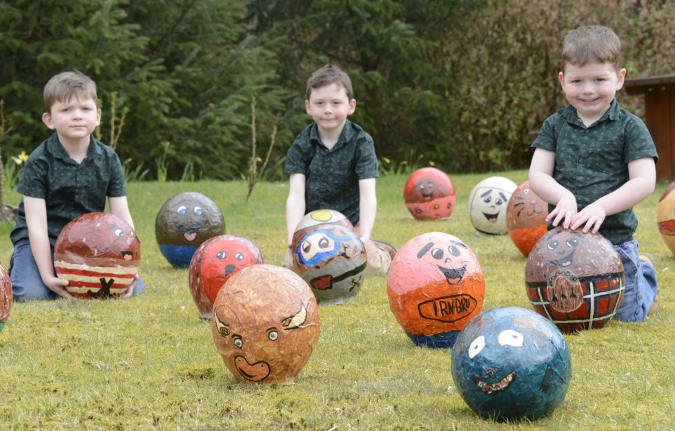 Jayden (6) Josh (8) and Jack (3) Dykes from Spean Bridge have fun. Pic: Iain Ferguson