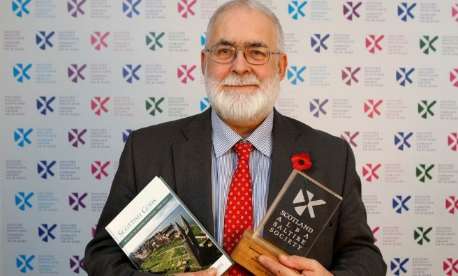 Winning author of the History Book of the Year Award, Professor Steve Bruce of Aberdeen University